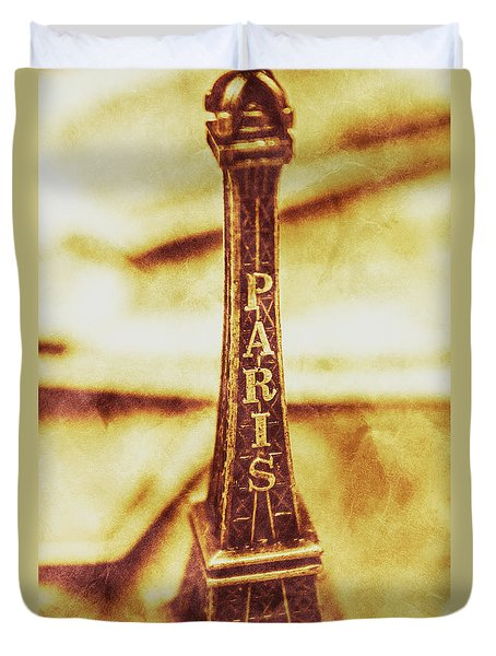 Old Paris Decor Duvet Cover by Jorgo Photography - Wall Art Gallery