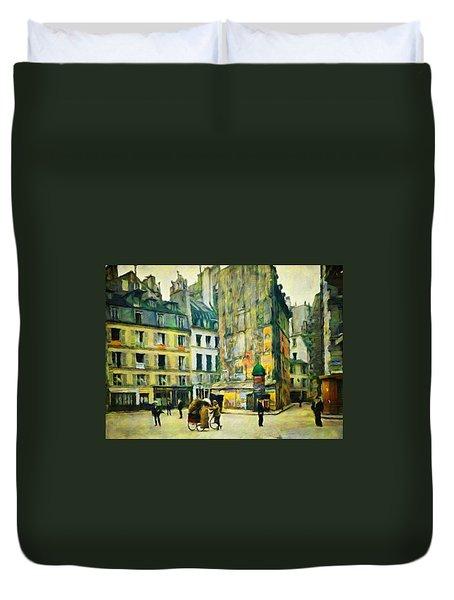 Old Paris Duvet Cover by Vincent Monozlay