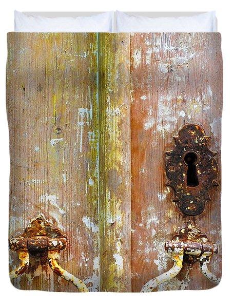 Old Peeling Door Duvet Cover