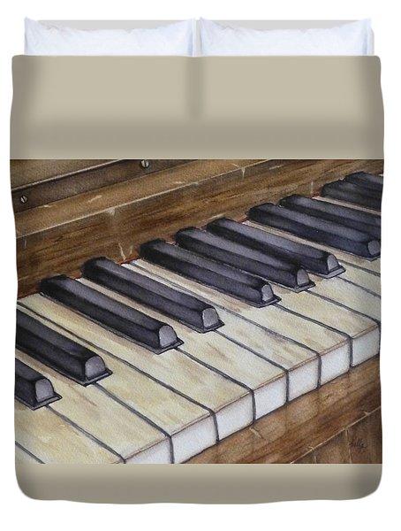Old Piano Keys Duvet Cover