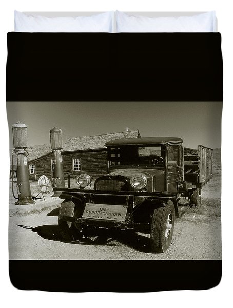 Old Pickup Truck 1927 - Vintage Photo Art Print Duvet Cover