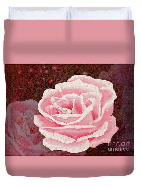Old Pink Rose Duvet Cover