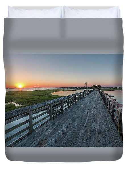 Old Pitt Street Bridge  Duvet Cover