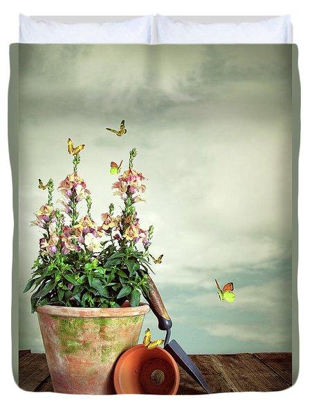 Old Plant Pot Duvet Cover