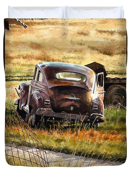 Old Plymouth Duvet Cover by Tom Hedderich