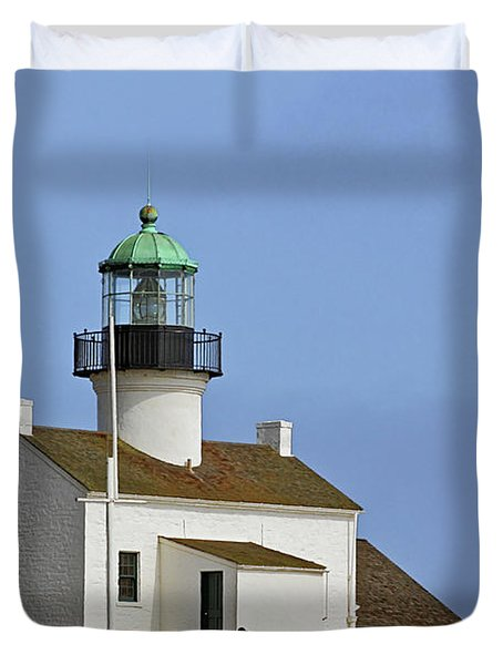 Old Point Loma Lighthouse San Diego California Duvet Cover by Christine Till