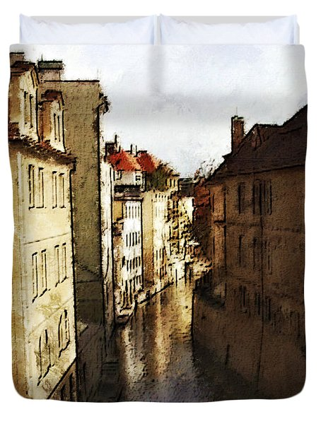 Old Prague Duvet Cover by Jo-Anne Gazo-McKim