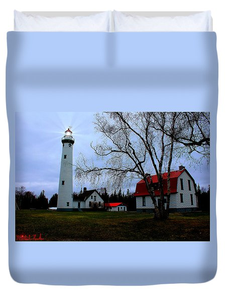 Old Presque Isle Lighthouse Duvet Cover