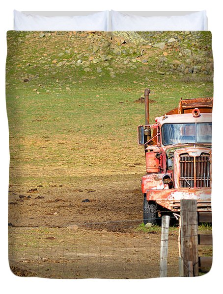 Old Pump Truck Duvet Cover
