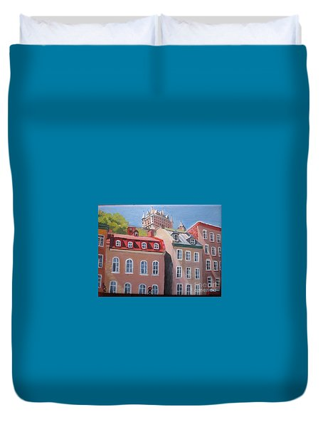 Old Quebec City Duvet Cover