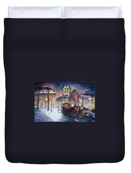 old Quebec Duvet Cover by Peter Suhocke
