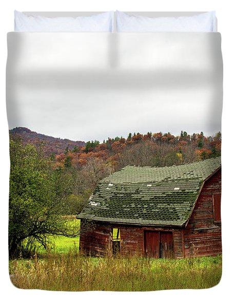 Old Red Adirondack Barn Duvet Cover
