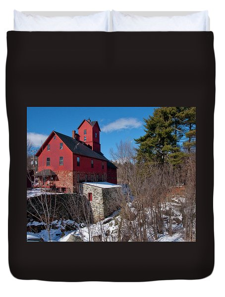 Duvet Cover featuring the photograph Old Red Mill - Jericho, Vt. by Joann Vitali
