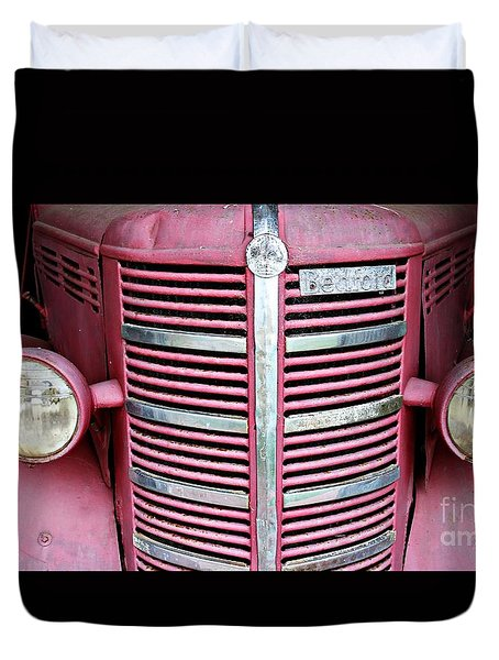 Duvet Cover featuring the photograph Old Red by Stephen Mitchell