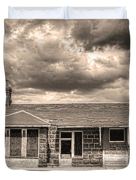 Old Rio Grande Train Stop Duvet Cover by James BO  Insogna