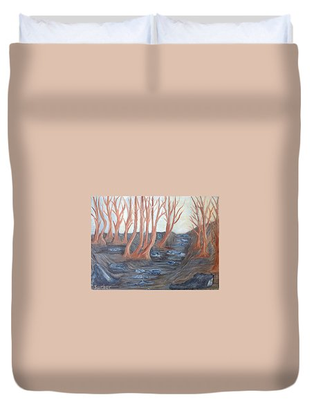 Old Road Through The Trees Duvet Cover