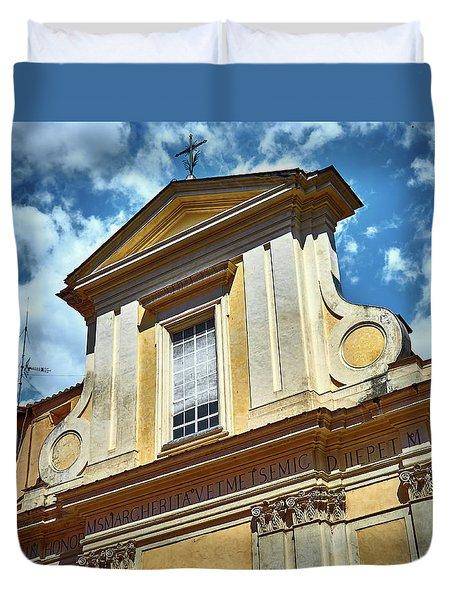 Old Roman Building Duvet Cover