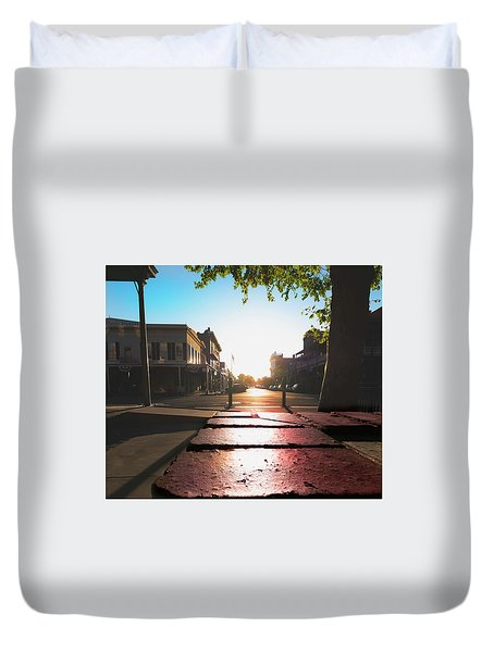 Old Sacramento Smiles- Duvet Cover
