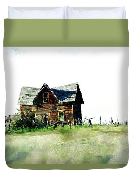 Old Sagging House Duvet Cover