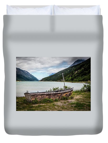 Old Sailboat Duvet Cover