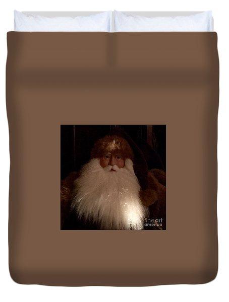 Old Saint Nick Duvet Cover by Patricia E Sundik