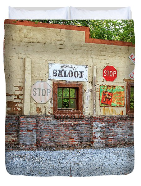 Old Saloon Wall Duvet Cover