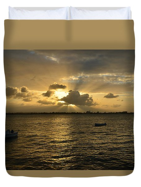 Old San Juan 3772 Duvet Cover