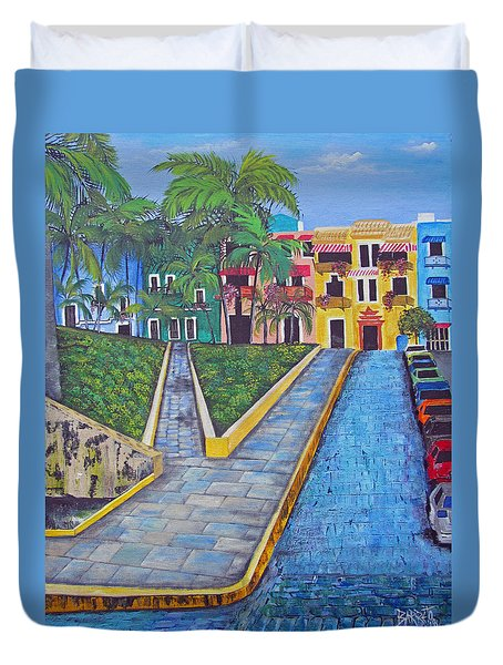 Old San Juan Duvet Cover