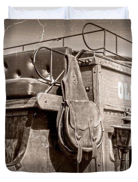 Old Santa Fe Stagecoach Duvet Cover