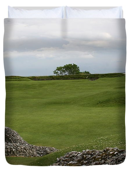 Duvet Cover featuring the photograph Old Sarum by Mary Mikawoz