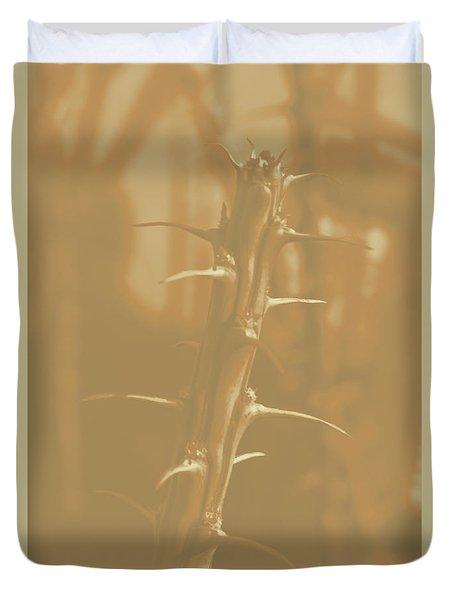 Old School Arizona Thorn Duvet Cover by Carolina Liechtenstein