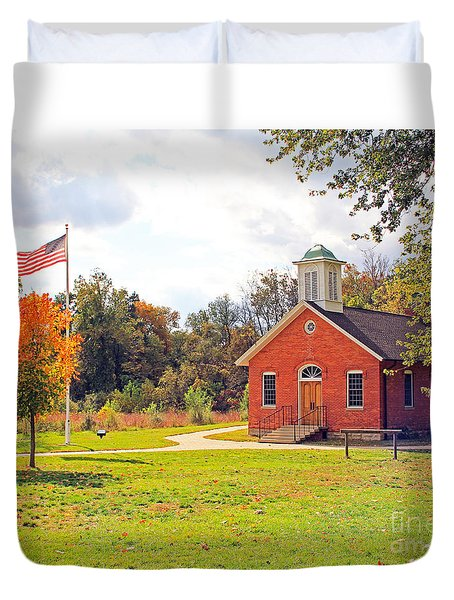 Old Schoolhouse-wildwood Park Duvet Cover