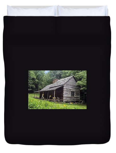 Old Settlers Cabin Smoky Mountains National Park Duvet Cover