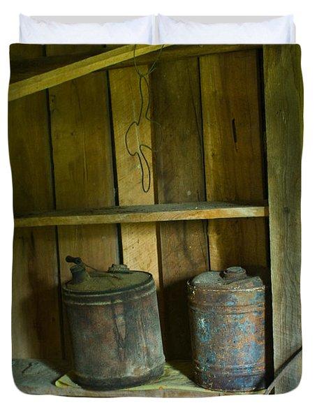 Old Shed Storage Duvet Cover