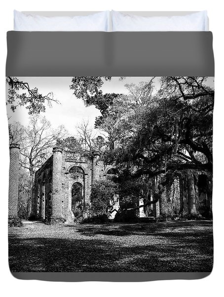 Duvet Cover featuring the photograph Old Sheldon Church  by Gary Wightman