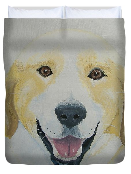 Duvet Cover featuring the painting Old Shep by Norm Starks