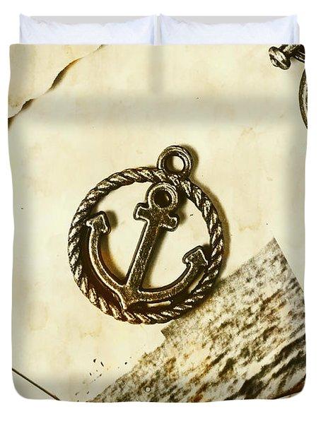 Old Shipping Emblem Duvet Cover