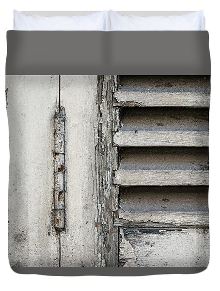 Duvet Cover featuring the photograph Old Shutters by Elena Elisseeva