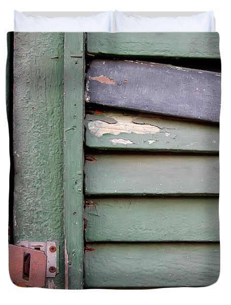 Duvet Cover featuring the photograph Old Shutters French Quarter by KG Thienemann