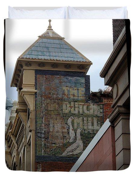 Old Sign Duvet Cover