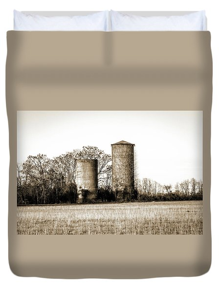 Old Silos Duvet Cover by Barry Jones