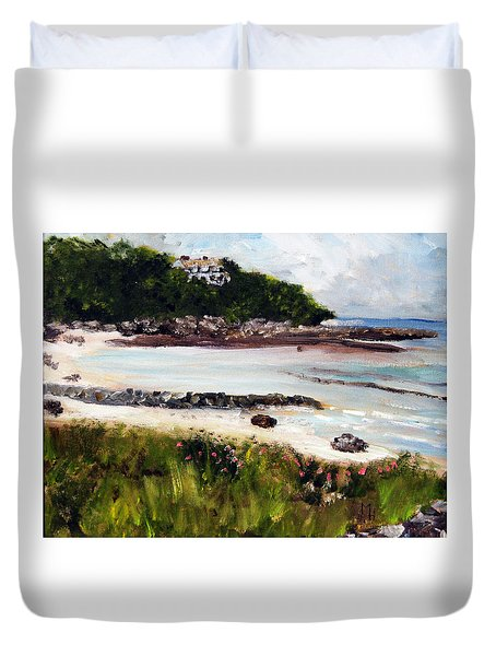 Old Silver Beach Falmouth Duvet Cover