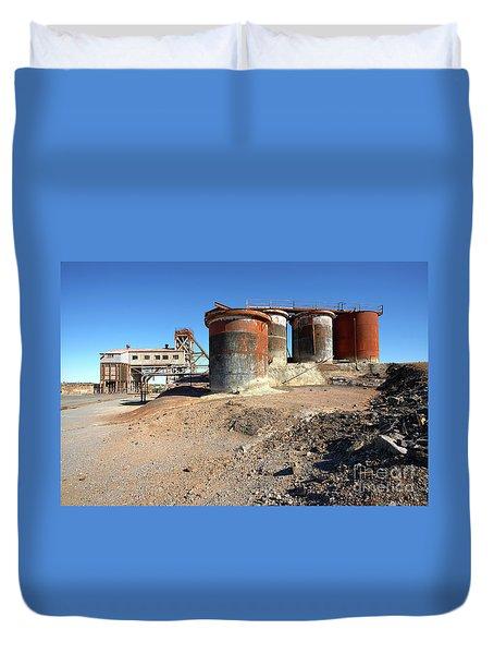 Old Silver Mine Broken Hill Duvet Cover by Bill Robinson