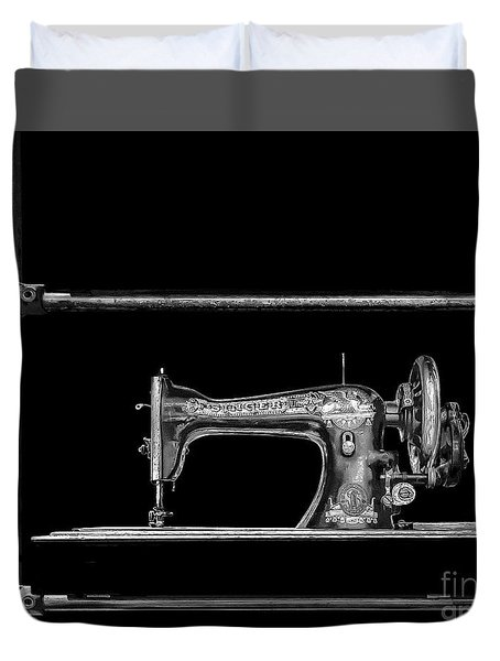 Old Singer Sewing Machine Duvet Cover