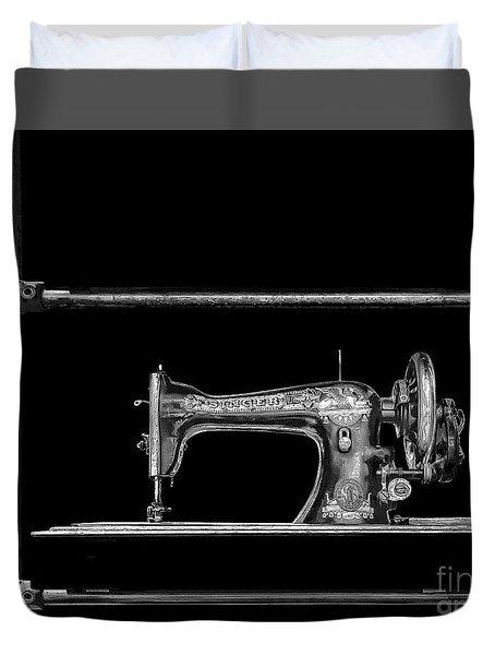 Old Singer Sewing Machine Duvet Cover by Walt Foegelle