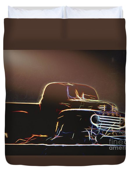 Old Sketched Pickup Duvet Cover
