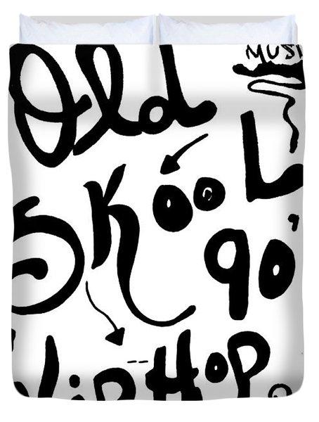 Old-skool 90's Hip-hop Duvet Cover