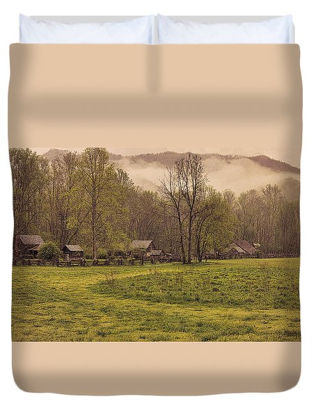 Old Smoky Mountain Homesteads Duvet Cover