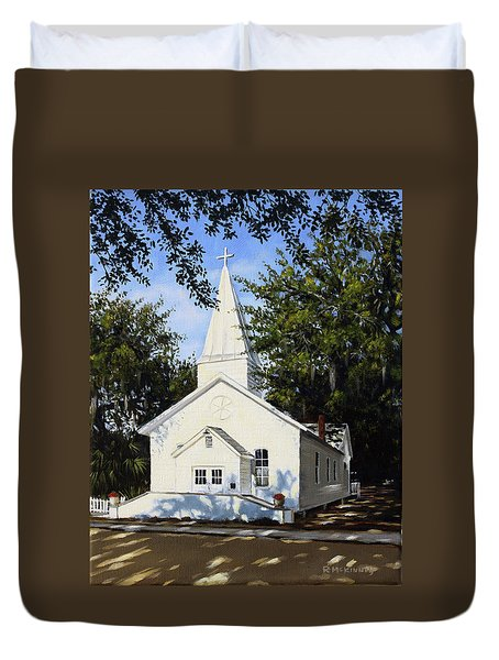 Duvet Cover featuring the painting Old St. Andrew Church by Rick McKinney