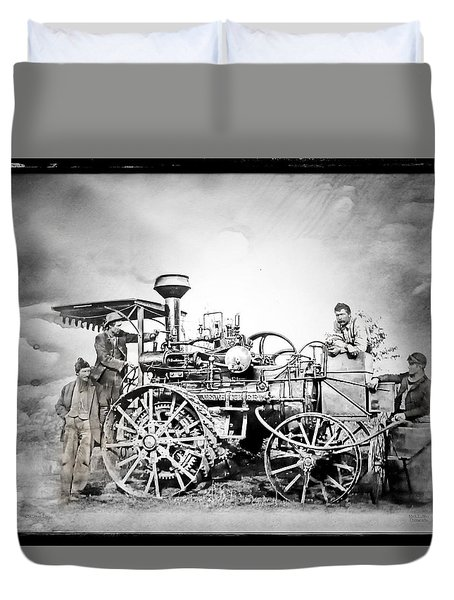 Old Steam Tractor Duvet Cover by Mark Allen